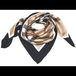 Burberry Check Square Silk Scarf